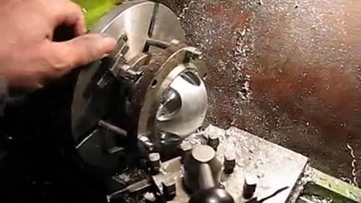 Изготовление шаров на токарном станке - морской флот