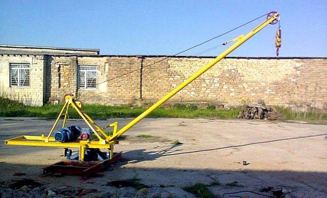 Поворотная кран балка своими руками для гаража. укрепляем самодельные подъемные устройства