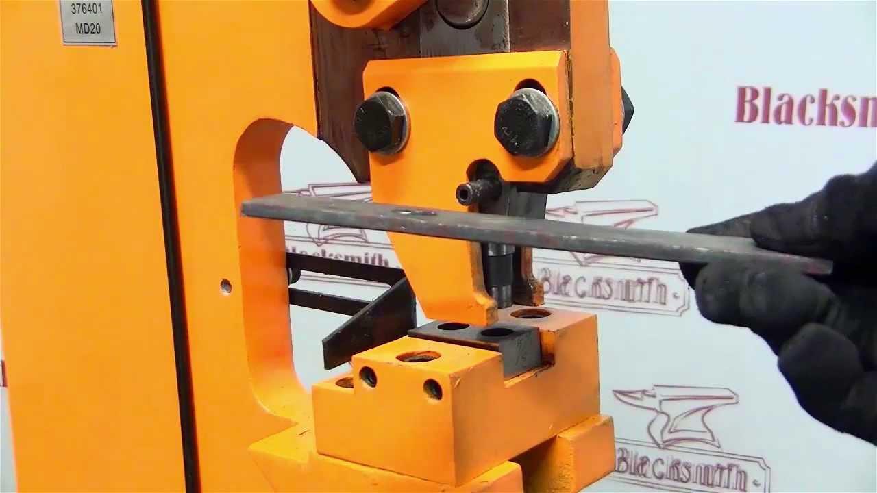Как производится пробивка отверстий в металле?