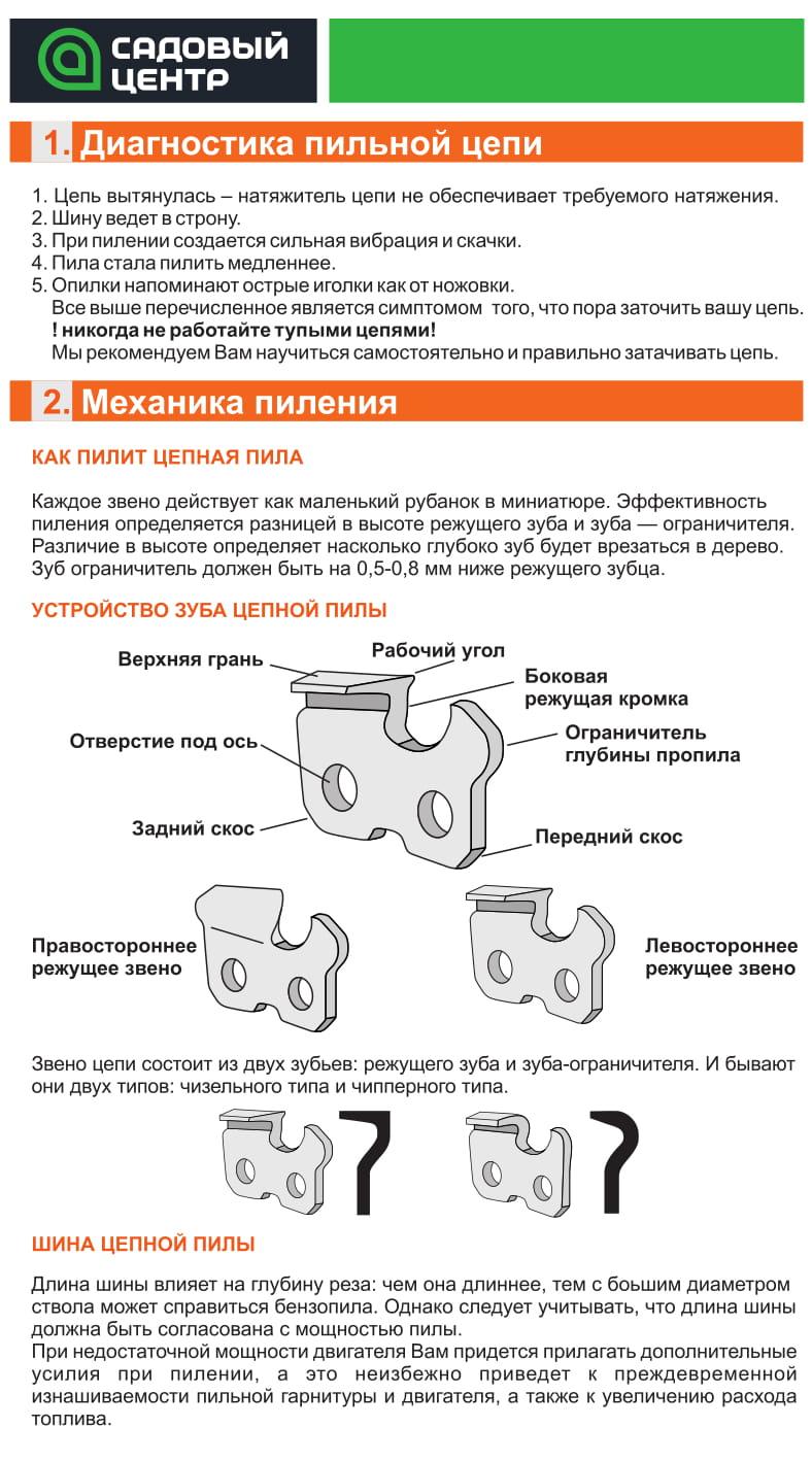 Цепь для бензопилы: приспособления для твёрдых пород, самозатачивающаяся цепь, маркировка и выбор