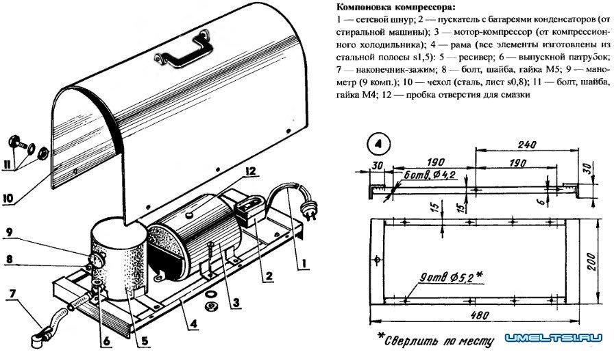 Как сделать воздушный компрессор своими руками?