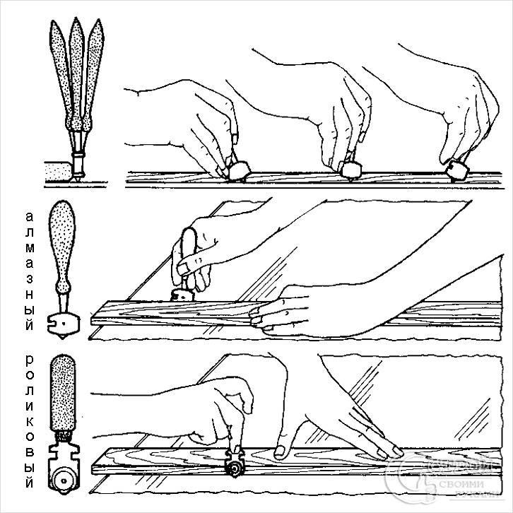 Как резать стеклорезом? резка стекла. как правильно пользоваться им в домашних условиях? как отрезать бутылку и разрезать плитку роликовым стеклорезом?