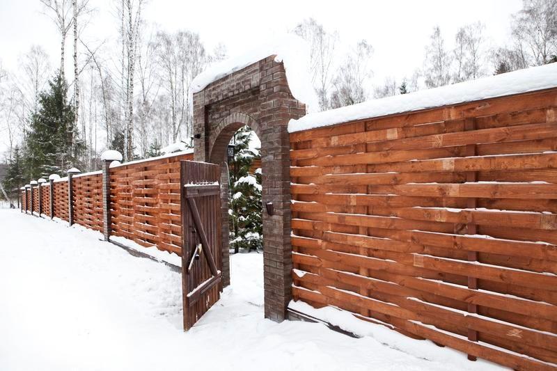 Забор из горбыля своими руками - всё о воротах и заборе