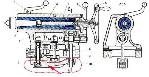 Чертежи с размерами токарный станок передняя бабка