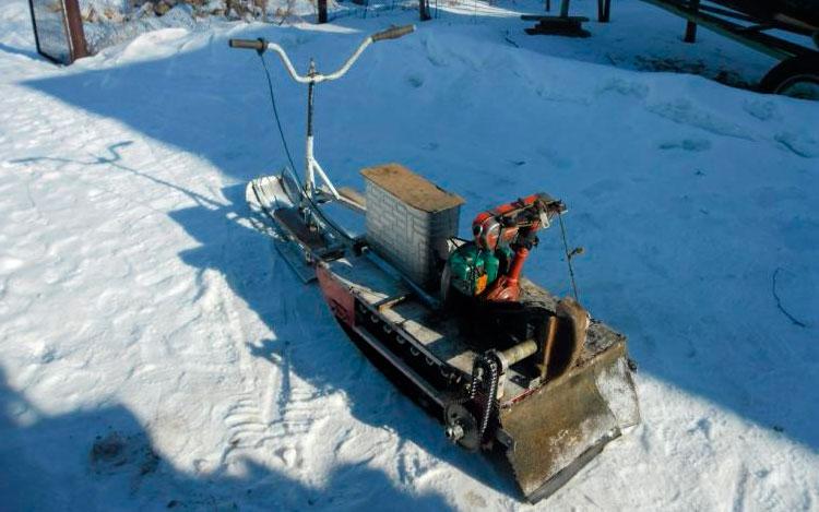 Снегоход из бензопилы своими руками: инструкция как сделать из различных бензопил