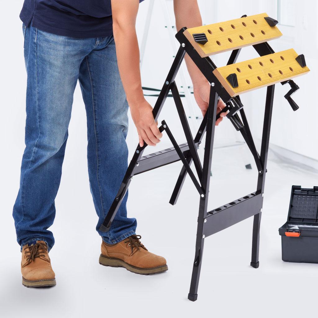Складной верстак-стол универсальный: его отличия от обычного верстака, характеристики и преимущества