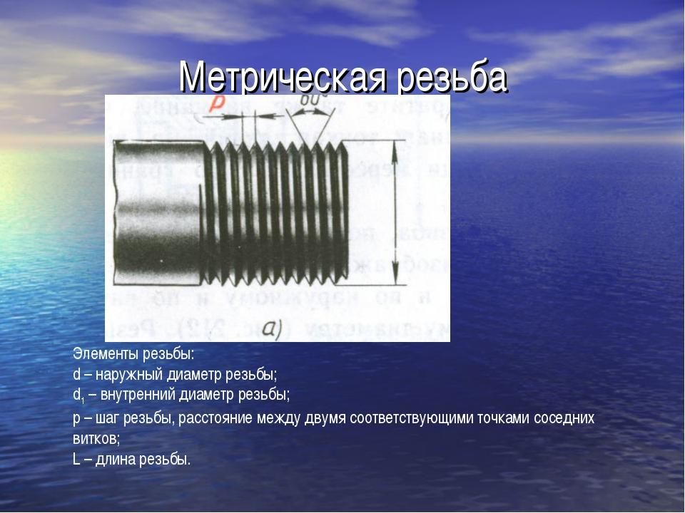 Шаг резьбы. описание. область применения :: syl.ru
