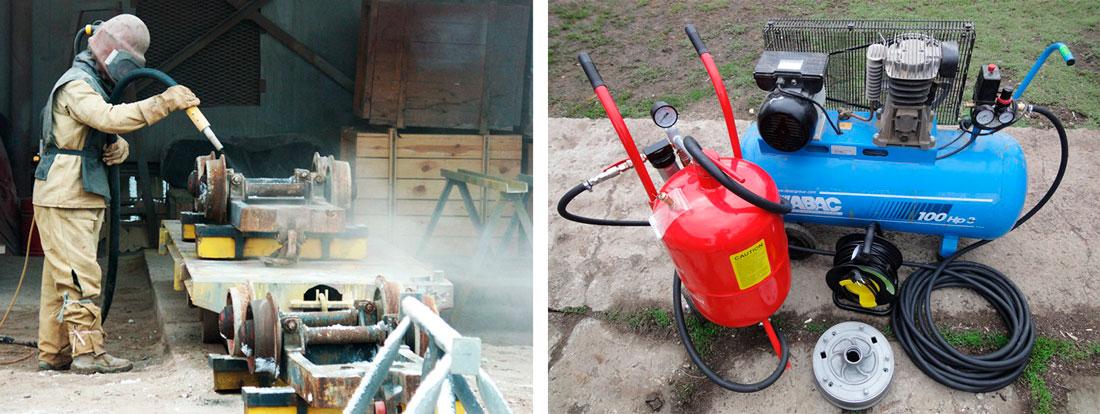 Пескоструйный аппарат: принцип работы, виды, характеристики