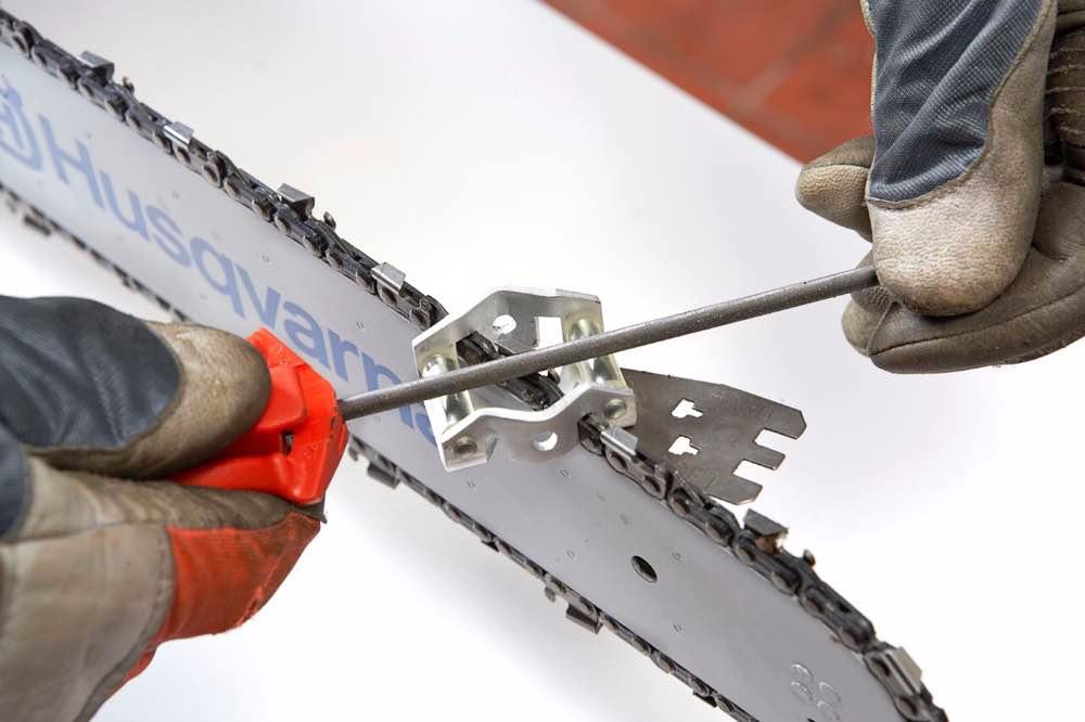 Правильная заточка цепи для бензопилы своими руками: способы