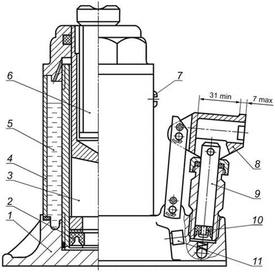 Устройство и ремонт гидравлического домкрата бутылочного типа