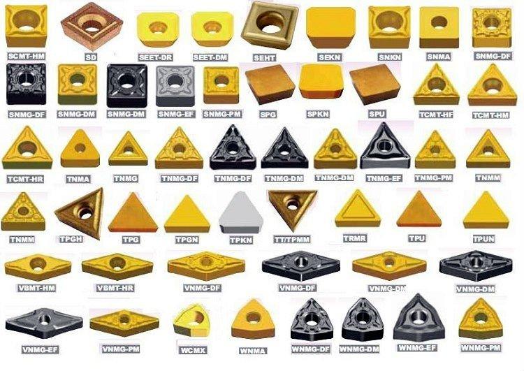 Твердосплавные пластины для применения на токарных резцах и их виды