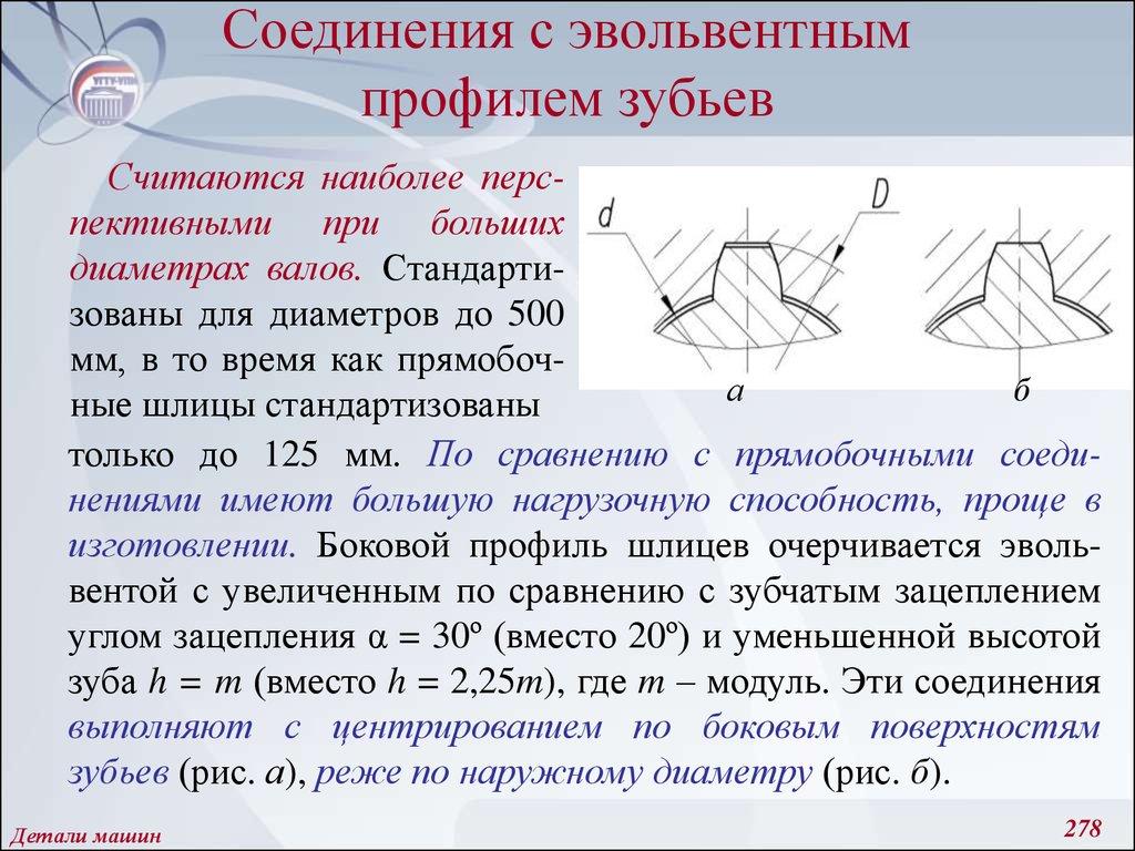 Шлицевое эвольвентное соединение чертеж - морской флот