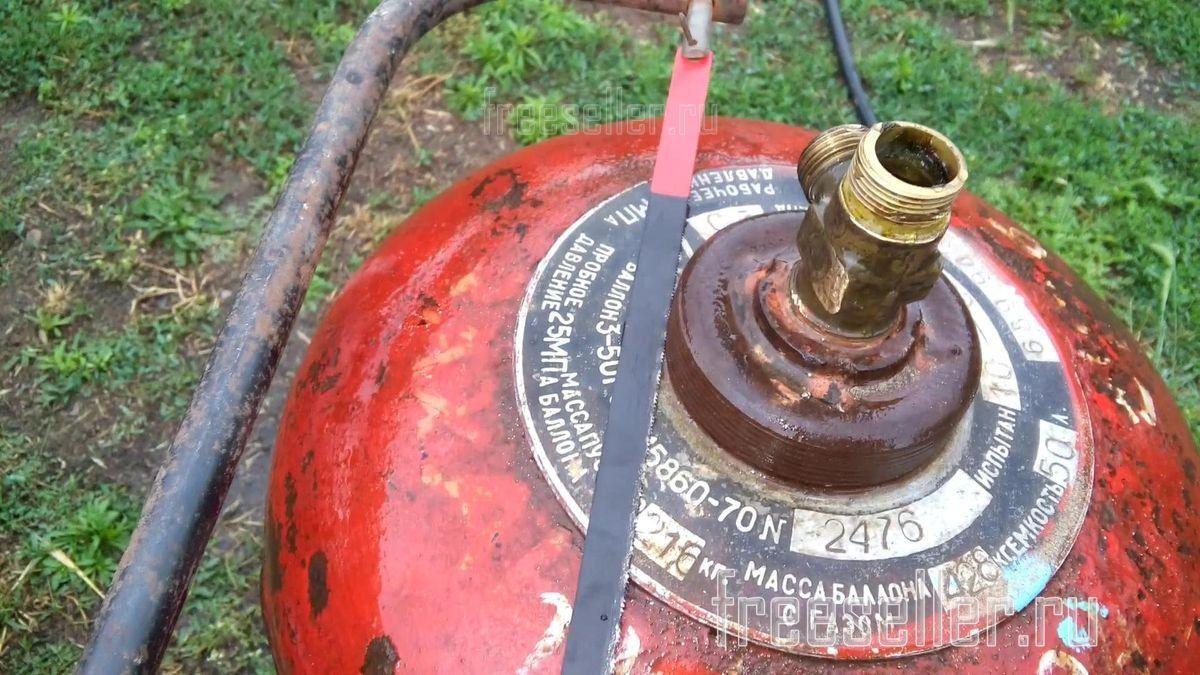 Как разрезать газовый баллон без плохих последствий