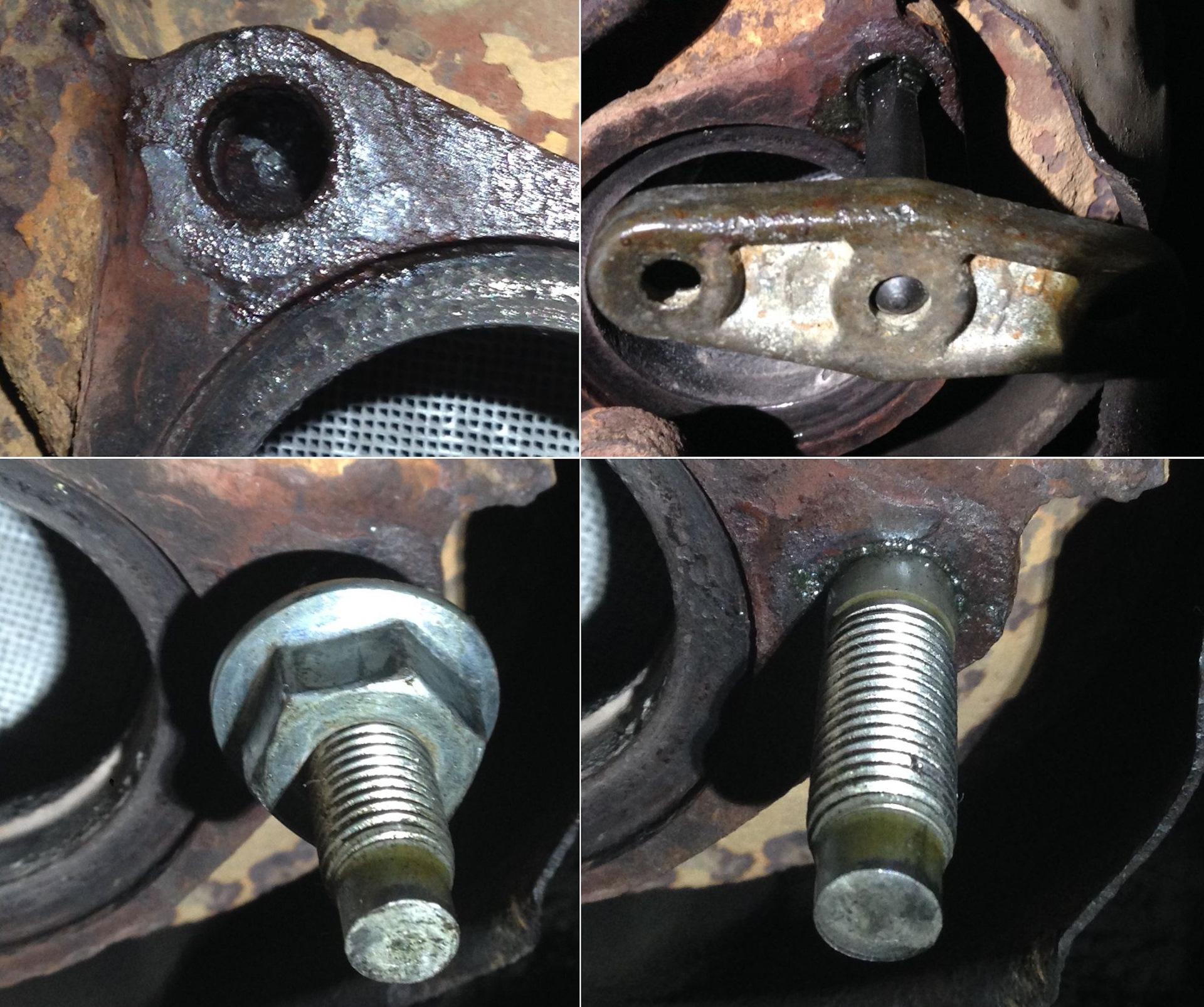 Как достать шпильку из блока двигателя