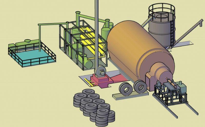 Оборудование для переработки автомобильных резиновых шин