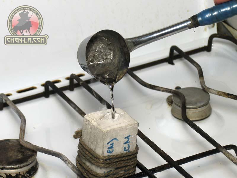 Как изготовить обереги дома из олова?