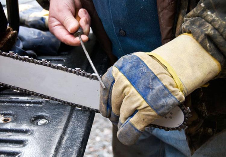 Заточка цепи бензопилы: как заточить своими руками в домашних условиях, правильный угол, как точить на станке