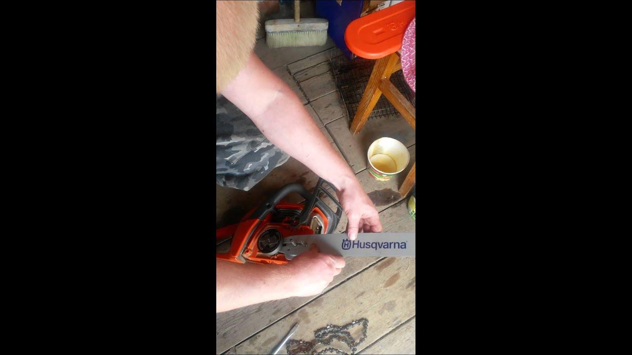 Бензопила хускварна ремонт масляного насоса