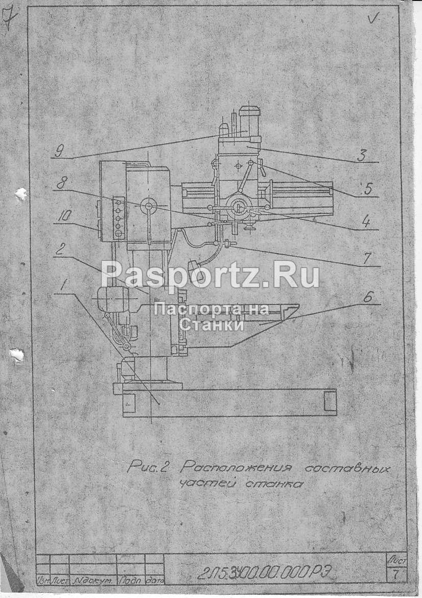 2а576 станок радиально-сверлильный. паспорт, схемы, характеристики, описание