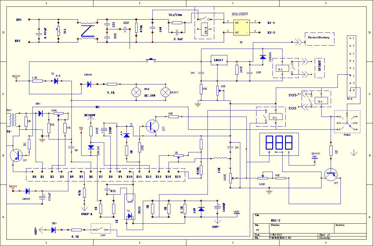 Схема сварочного инвертора: принципиальная электрическая схема аппарата