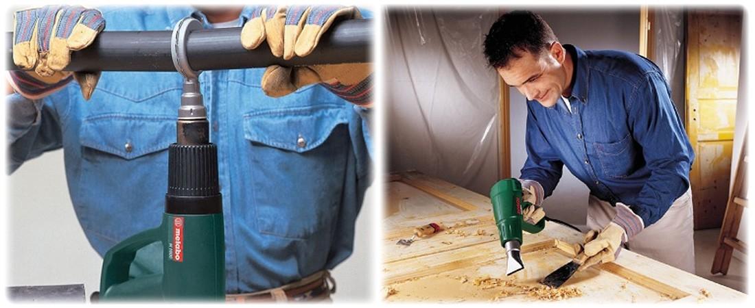 Как правильно работать строительным феном