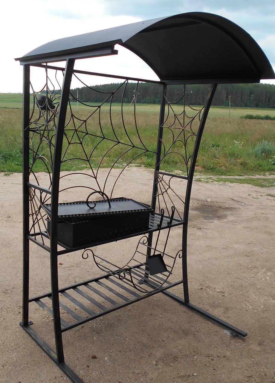 Кованый мангал (50 фото): разборный вариант для дачи с элементами ковки, эксклюзивный резной с барбекю, изготовление при помощи лазерной резки