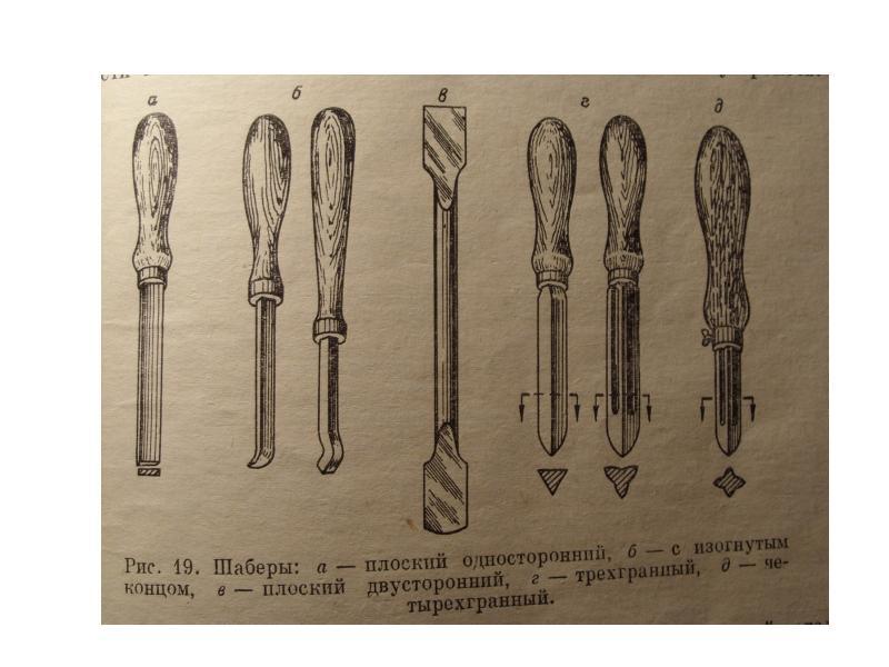 Разновидности шаберов и сферы их применения