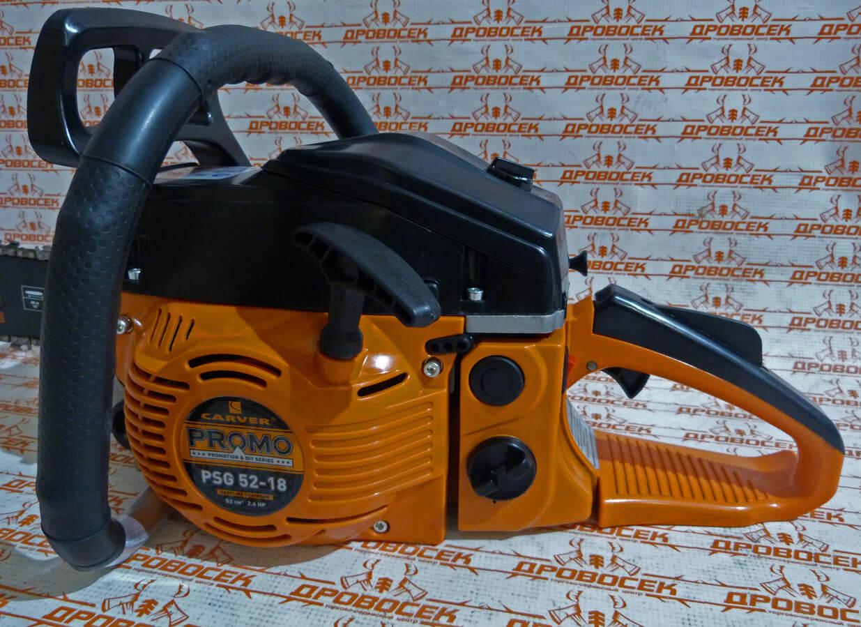 Бензиновая пила carver promo psg-52-18 01.004.00024