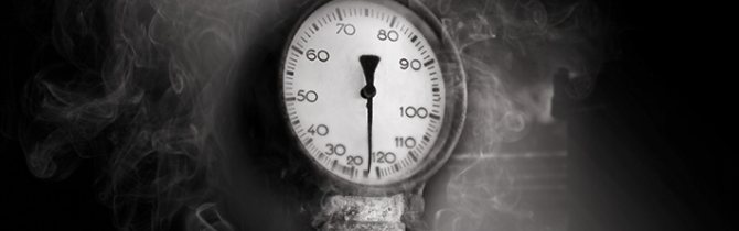 Шкала давления на манометре