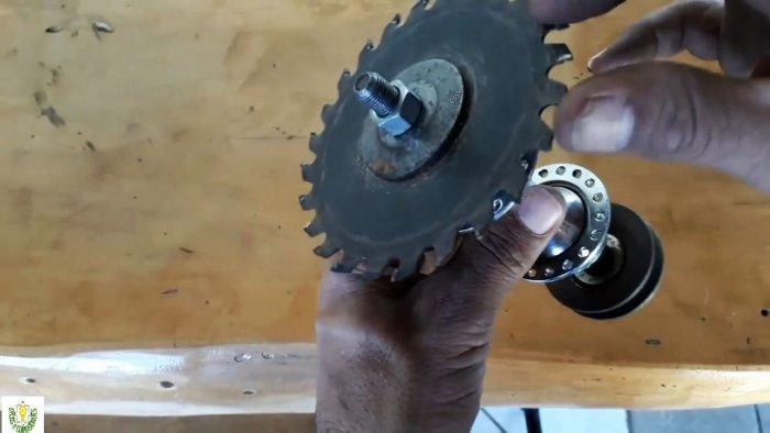 Как сделать циркулярку из двигателя стиральной машины своими руками