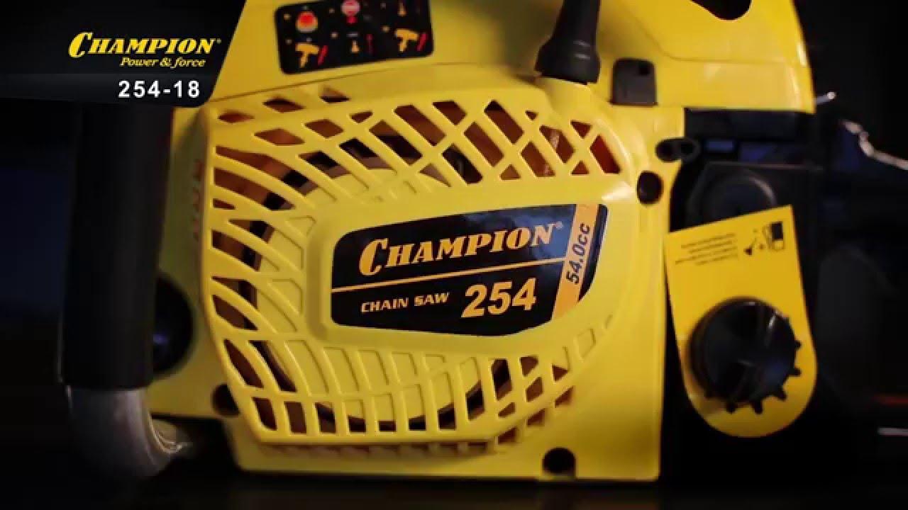 Бензопилы чемпион (champion) — модели их характеристики