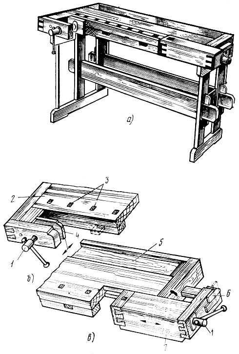 Столярные тиски своими руками – схемы и технология изготовления