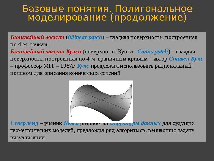 Виды 3д моделирования: полигональное, сплайновое и nurbs моделирование.