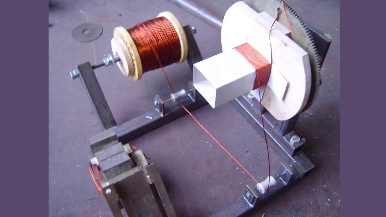 Намоточный станок с укладчиком на шаговом двигателе своими руками