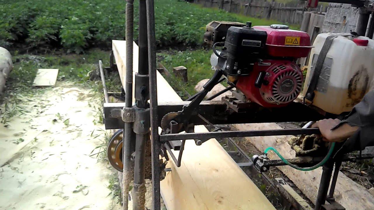 Самодельная пилорама из бензопилы - инструкция по сборке своими руками