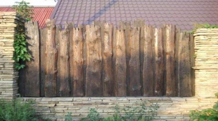 Как сделать красивый забор из горбыля своими руками? фото и видео