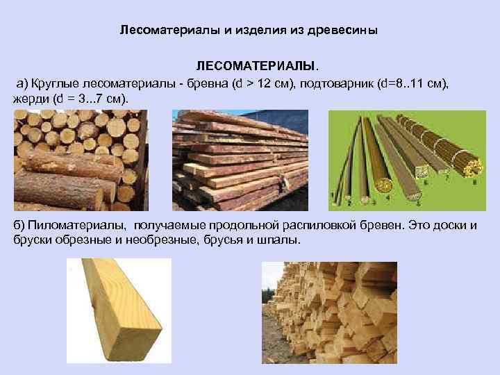 Справочник строителя | виды лесоматериалов