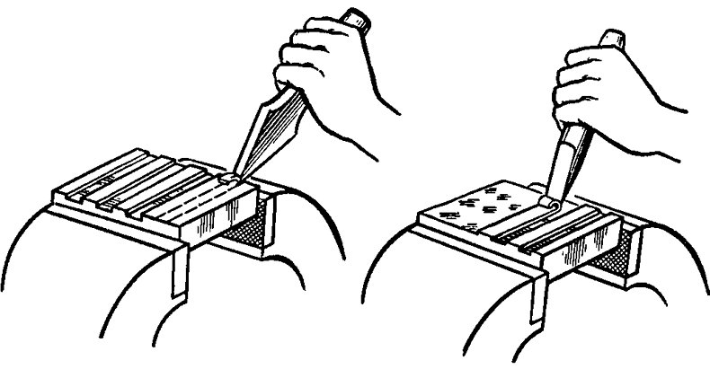 Рубка металла на гильотине, ручная и полуавтоматическая рубка