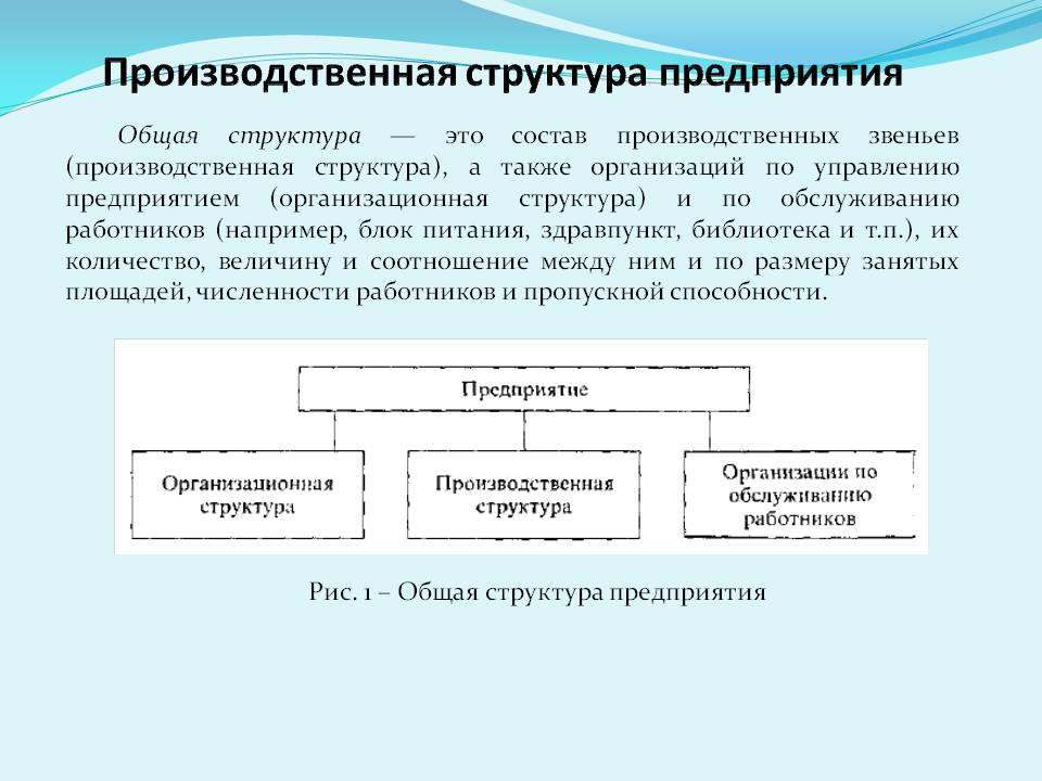 Производственная структура предприятия