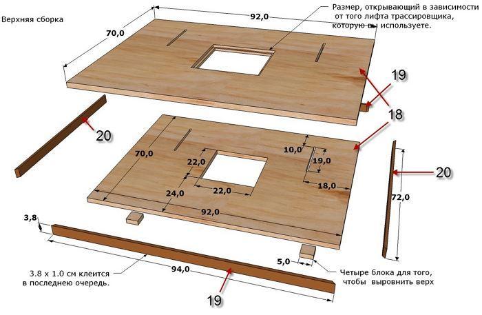 Фрезерный стол своими руками: чертежи, схемы