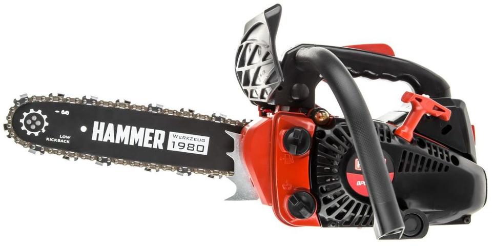 Бензопилы hammer: обзор популярных моделей