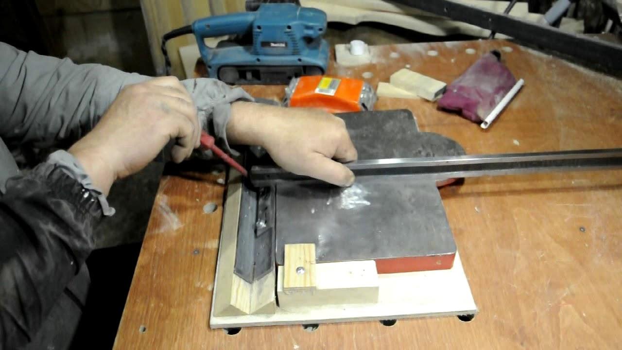 Как сделать самодельное приспособление для заточки ножей своими руками