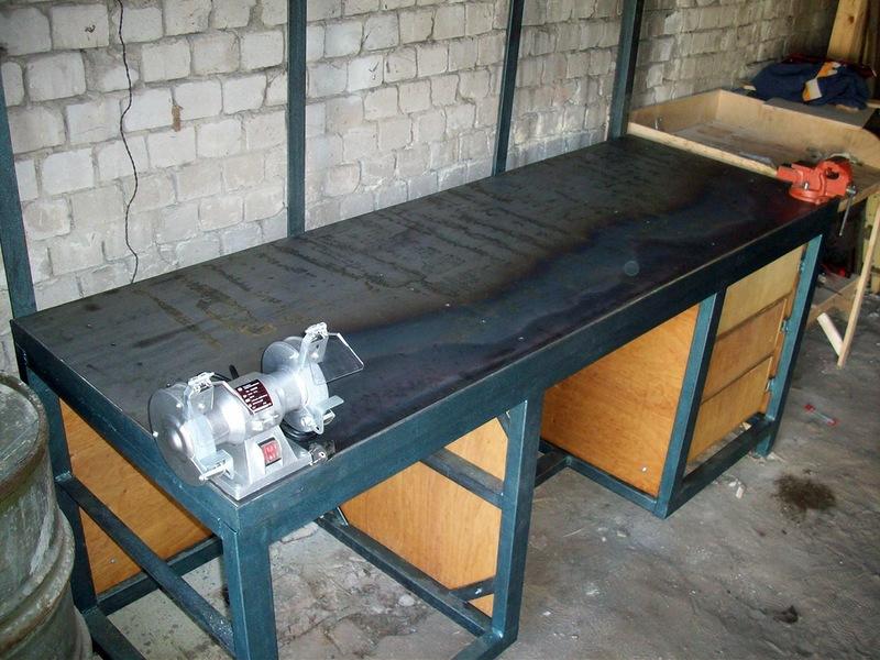Верстак в гараж своими руками: как сделать слесарные и металлические столы