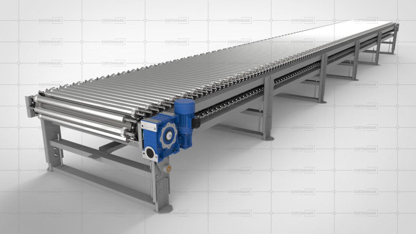 Приводной роликовый конвейер, купить конвейер приводной, цена на приводной роликовый конвейер, роликовый траспортер