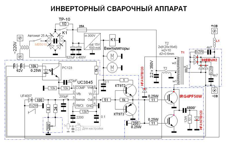 Сварочный инвертор своими руками: схема и сборка
