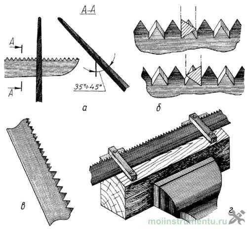 Как точится ножовка по дереву в домашних условиях: своими руками, правила заточки