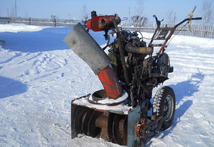 Снегоуборщик для мотоблока своими руками: выкладываем суть