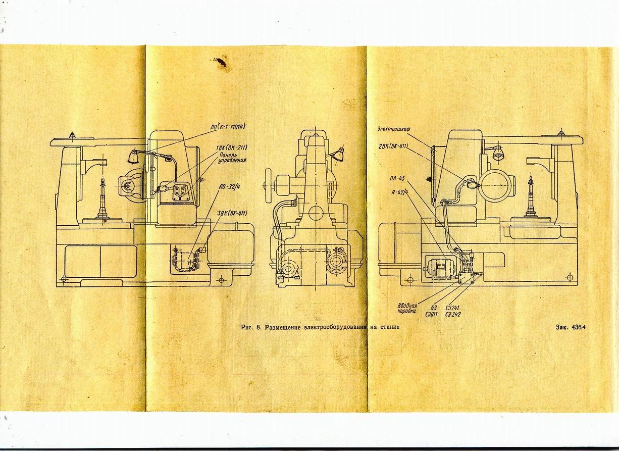 561 станок резьбофрезерный горизонтальный полуавтомат схемы, описание, характеристики