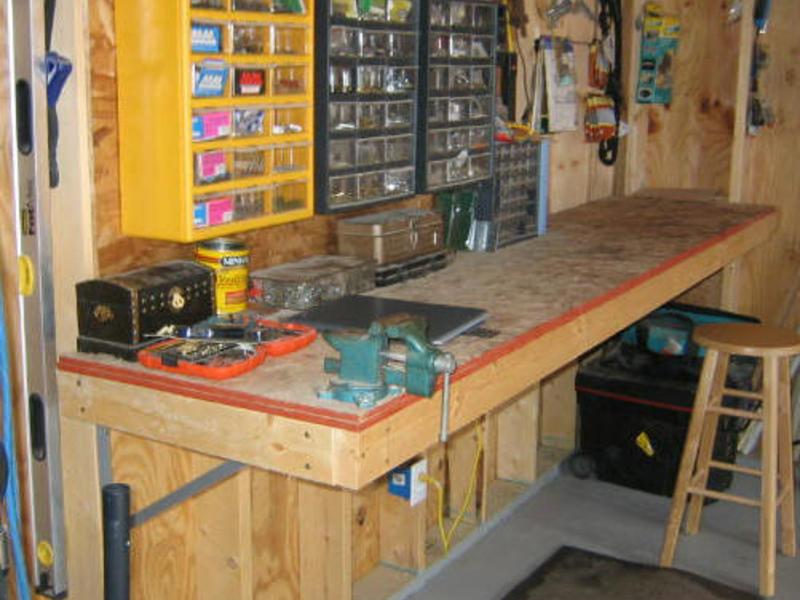 Верстак в гараж: как сделать своими руками, чертежи и размеры, инструменты и материалы