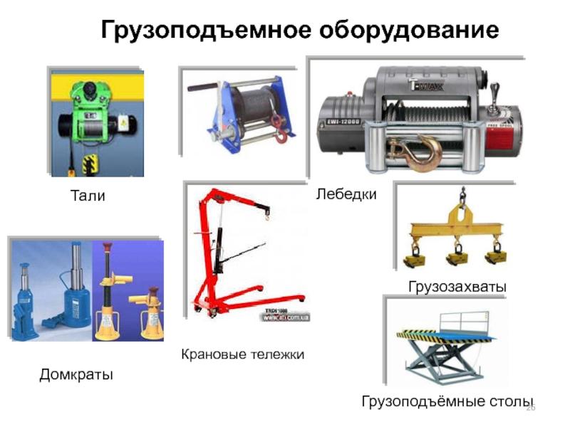 Грузоподъемные механизмы: виды, конструкции, правила безопасности при эксплуатации